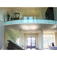 Tempered tinted glass railing with stainless steel standoff / patch fitting railing Manufactures