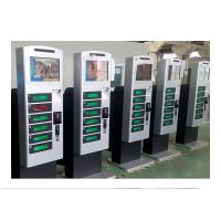 China Free Standing Cell Phone Charging Kiosk Lockers with Hotspot Wifi Network Advertisement Function on sale