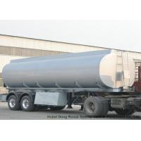 2 Axles Stainless Stee Water Tank Semi Trailer For Health Water Transport  30T- 35Ton Manufactures