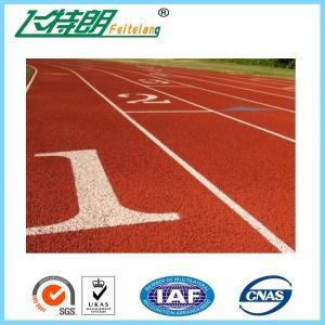 Running Track Flooring / Rubberized Outdoor Flooring 8 Lines High School