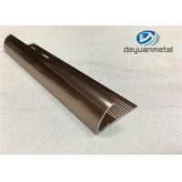 6063 T5 Aluminium Extrusion Profile Metal Transition Strips For Flooring With Polishing Bronze Manufactures