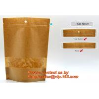 Foil Kraft Paper Bag Coconut Packaging Bags Doypack with Clear Window,500g 1kg 16oz Ziplock Food Packaging Bag Customize Manufactures