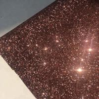 China PU Gold Glitter Wallpaper For Walls 0.9±0.15mm Thickness Non Woven Backing on sale