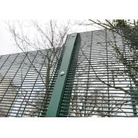 Green / Black Metal 358 Security Fence Powder Coated With Posts And Hardware Manufactures