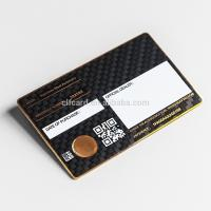 0.5mm  Luxury Matte Black Metal Business Cards  Carbon Fiber Patterned Manufactures