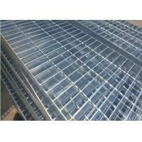 Plain Type Metal Walkway Grating , 25 X 5 / 30 X 3 Galvanized Floor Grating Manufactures