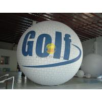 White Inflatable Golf Ball Sport Balloons with Full Digital Printing for Trade Show Manufactures