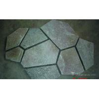 Natural stone Durable Pink Quartzite Mesh Backed Flagstone Paver Tile Heat Resistance Manufactures