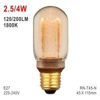 T45 Bulb, LED Deco Light, E27 Bulb, Fashionable Glass Bulb, Warm White LED Candle Manufactures