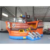 China Inflatable pirate boat 6x3m Mini Inflatable bounce Inflatable Combo kids outdoor inflatable pirate ship on sale