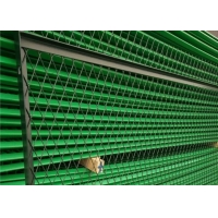 China Flatten Green Pvc Coated Expanded Metal Wire Mesh For Security Doors on sale