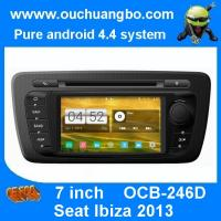Quality Ouchuangbo pure android 4.4 Seat Ibiza 2013 2014 autoradio gps dvd support 1024*600 4 core for sale