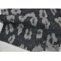 Wrinkle - Resistant Wool Blend Coat Fabric Various Design For Curtain / Sofa Manufactures