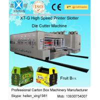 Four Colours Flexo Printer Slotter Rotary Die Cutter with Stacker Machine Manufactures