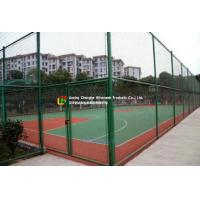 Sports Field Wire Mesh Fence Stainless Steel Green Color Gavlanized Finish Manufactures