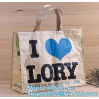China Reusable Advertising PP Woven Shopping Bag,Custom Laminated Shopping PP Woven Bag Promotional Tote Bag, bagplastics pack on sale
