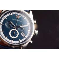 Buy cheap Armani Watch AR1652 EMPORIO ARMANI WAGIANNI MENS BLUE LEATHER CHRONOGRAPH WATCH CODE:AR165 from wholesalers