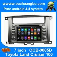 Ouchuangbo Toyota Land Cruiser 100 pure android 4.4 OS autoradio stereo dvd navi build in Manufactures