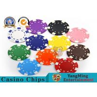 PMS Printing Casino Poker Chips Abs Plastic Inner Steel Core Environmental Protection Material for sale