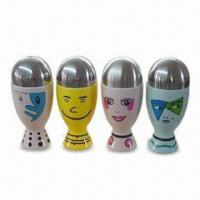 Porcelain Salt and Pepper Shakers in Round Shape, OEM Designs Accepted Manufactures