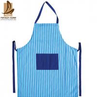 Fashion Lady Custom Strip Printed Sexy Cotton Kitchen Apron Ruffle