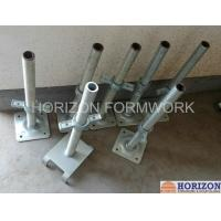 Q235 Steel Scaffold Screw Jack , Scaffolding Adjustable Base Jack Painted Surface Manufactures
