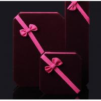 High-end wine red flocking jewelry box wholesale Manufactures