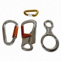 Buy cheap Aluminum climbing hook, suitable to assemble to the lanyard or short strap from wholesalers