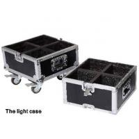 Custom Black Rack Flight Case , Portable Trolley Flight Case For Lights Manufactures