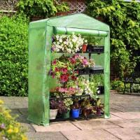 PE Mesh Cover Walk In Greenhouse / Customized Small Garden House No Tools Needls 145*143*195CM 140gsm lined PE Manufactures