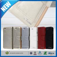Apple iPhone 6 Protective Cases Leather Flip Wallet With Credit Card Holder Manufactures