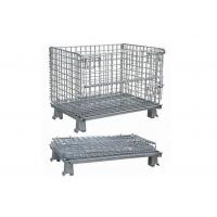 Buy cheap Longlife Stackable Wire Mesh Container Metal Bin Storage Cage Foldable from wholesalers