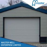 Tilt Up Lifting Overhead Garage Doors Steel Sheet With Aluminum Alloy Frame Manufactures