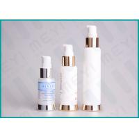 China Silkscreen Printing PP Cosmetic Pump Bottle Airless Dispenser Bottles With SAN Cap on sale