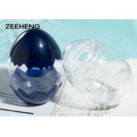 Food grade creative egg shape plastic PET bottle cold drinking water candy cup for sale