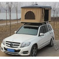 China Fiberglass Hard Shell Pop Up Tent , Truck Bed Hard Top Tent With Sponge Mat on sale