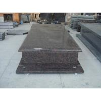 Tan Brown Brown Granite Headstones , Cemetery Memorials Headstones European Style Manufactures