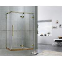 Green Bronze Square Frameless Hinged Shower Door With One Hinged Door Easy Installation Manufactures