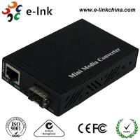 Mini 10 / 100 / 1000M SFP Fiber Ethernet Media Converter Not Included the SFP Modules with External Power Supply Manufactures