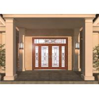 China Custom Front Entry Door Glass , Colored Decorative Glass Panel For Door on sale