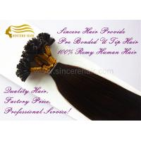 20 Inch Remy Human Hair Extensions 1.0 G Pre Bonded U Tip Hair Extensions For Sale
