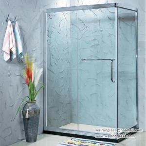 China frameless glass shower enclosures on sale