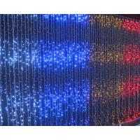 Flat emitting 110v fairy outdoor led christmas lights curtain CE ROHS approval Manufactures