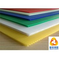 Light Weight But Compression Resistant Fluted / Corrugated Polypropylene Sheets Manufactures