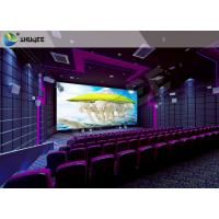 High Definition  Sound Vibration Cinema With Big Screen Dual Projectors Manufactures