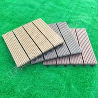2017 wood plastic composite Solid DIY Decking flooring 300*300mm for interior/exterior home decor China Manufacture Manufactures