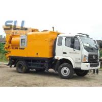 Quality Easy Moving Mobile Trailer Mounted Concrete Pump With Double Shaft Mixer for sale