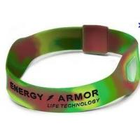 Quality OEM Hologram Power Energy Armor Bracelet, Sports Silicone Bracelets For  Promo Gift for sale