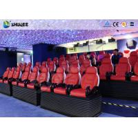 5D Motion Cinema Luxury Red Chair 5D Movie Theater With 6 Special Effect Manufactures
