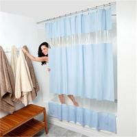 China Solid pvc shower curtain on sale